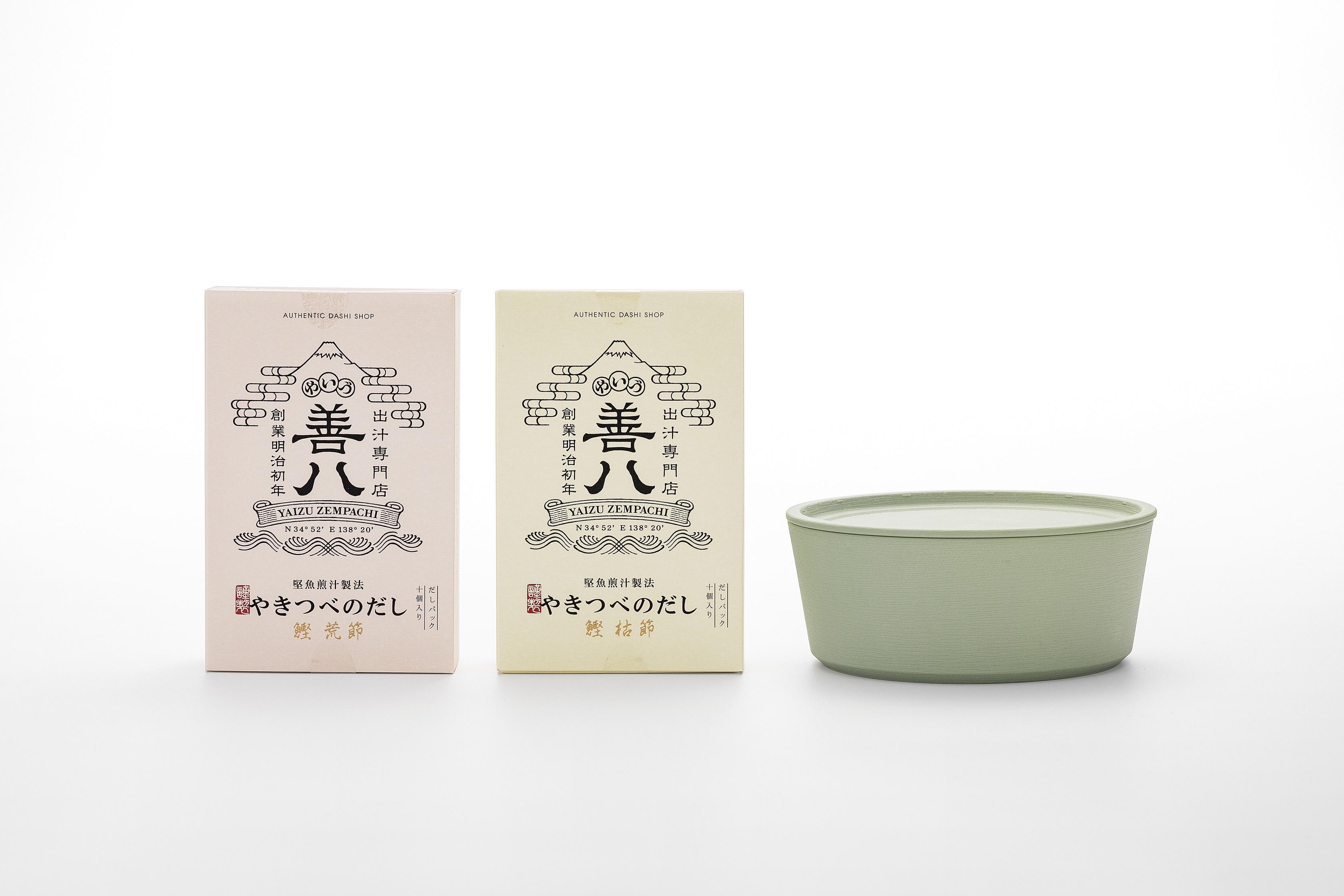 やきつべのだし デザイン食器「9°」セット 初緑色