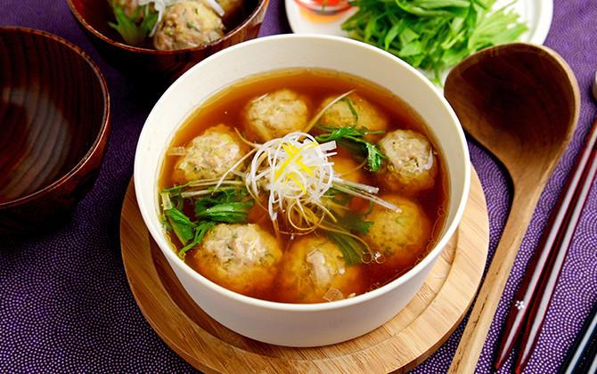 レンジでOK ゆず香る肉団子のだしスープ