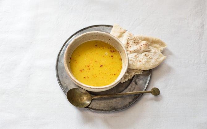 レンズ豆のだしスープ