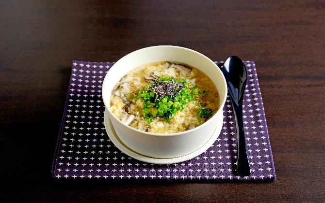 JUNAさん家の レンジで簡単 たまご雑炊