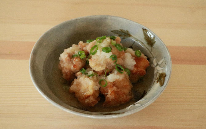 神田さん家の 鶏から揚げのみぞれ煮