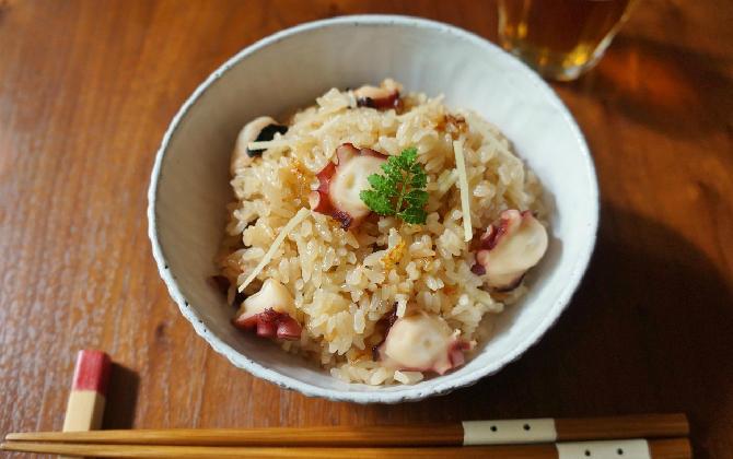 楠さん家の 生姜香るタコの炊き込みご飯