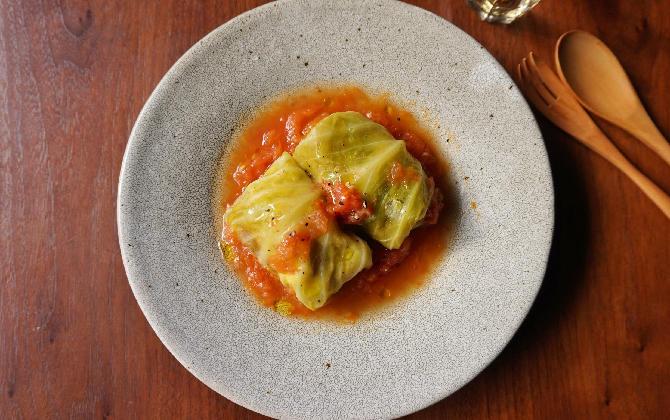 楠さん家の ロールキャベツのフレッシュトマト煮込み