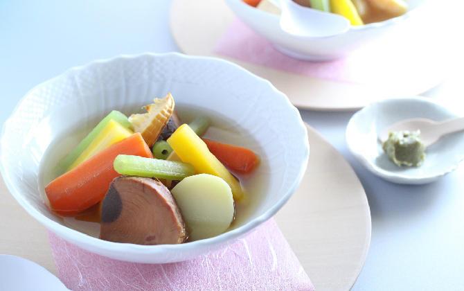 まぐろ角煮と春野菜の和ポトフ
