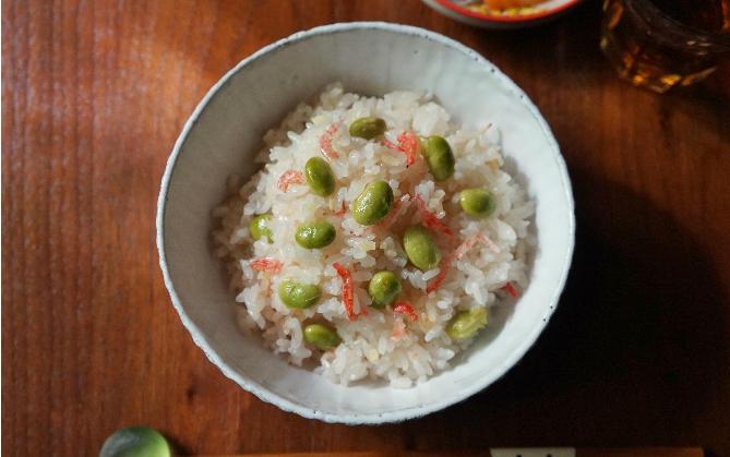 桜えびと枝豆の炊き込みご飯