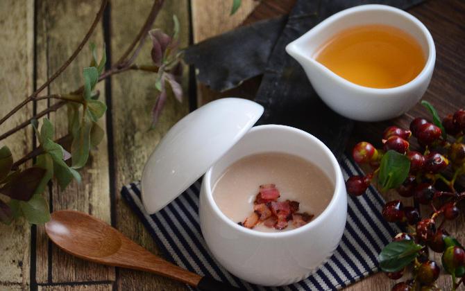 松尾さん家の 里芋とベーコンの和ポタージュ