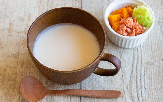 ほっとするレシピ マグdeクリームスープ