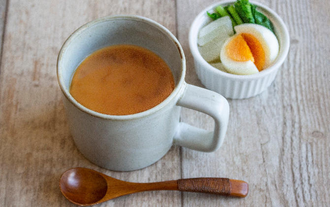 ほっとするレシピ マグde味噌汁