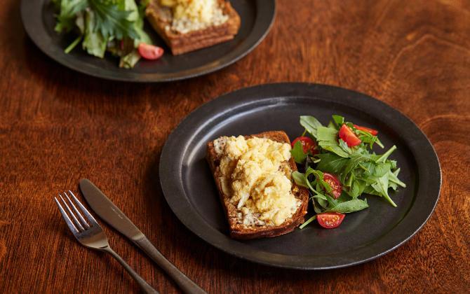 半熟だし卵で作る 和風オムレツのサンドイッチ