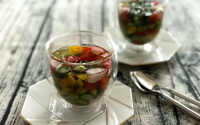 ココキッチンさん家の カラフル野菜の和風グラステリーヌ