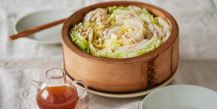 白菜と豚バラ肉の温サラダ