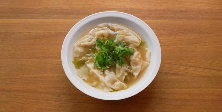 レタスのエビわんたんスープ