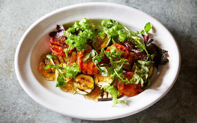 鰹だしで丸ごといただく夏野菜 夏野菜のグリル だしジュレソース