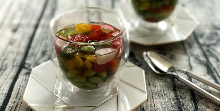 カラフル野菜の和風グラステリーヌ