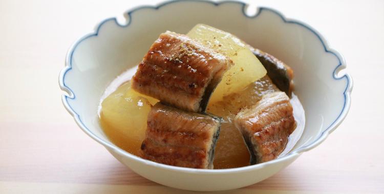 冬瓜と鰻の煮物