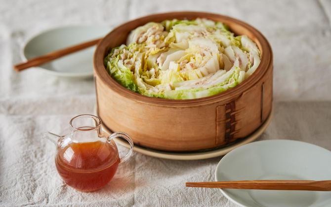 FUKUDA'S RECIPE 白菜と豚バラ肉の温サラダ