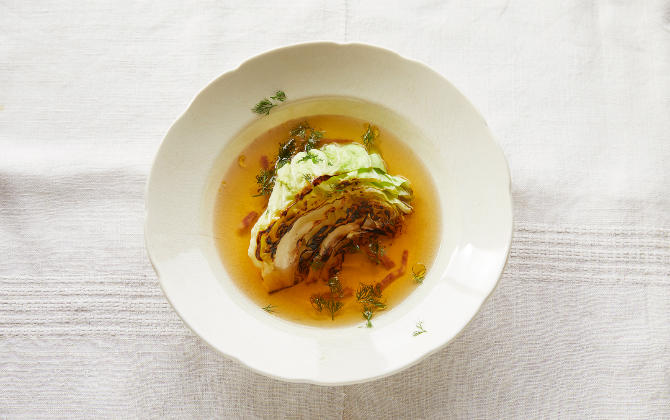 キャベツの甘みと鰹だしの香り 春キャベツのだしスープ